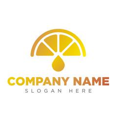 art lemon icon logo art orange icon logo vector image