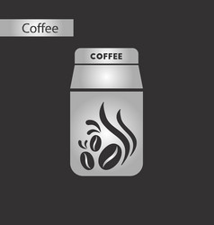 Black and white style coffee package vector