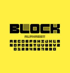 block font vector image