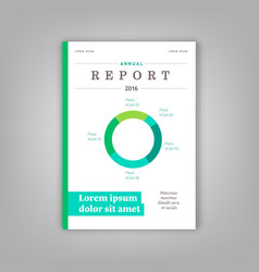 Blue annual report leaflet brochure template vector