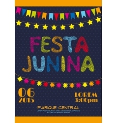 Brazil june party invitation poster vector image