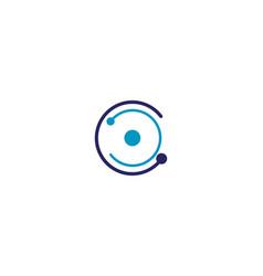 c circle logo and symbols vector image