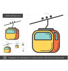 cable railway line icon vector image