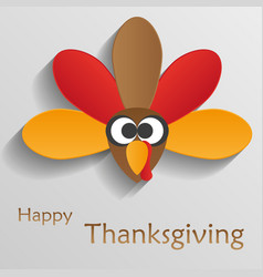 cartoon of turkey bird happy thanksgiving celebra vector image