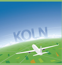 Cologne flight destination vector