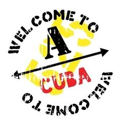Cuba stamp rubber grunge vector