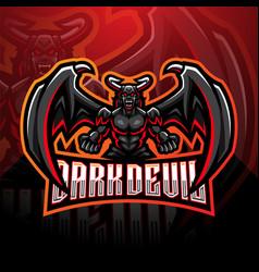 dark devil esport mascot logo design vector image