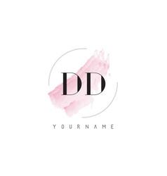 Dd d d watercolor letter logo design vector