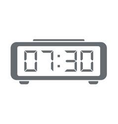 digital alarm clock icon vector image