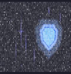 digital lock guard sign binary code vector image