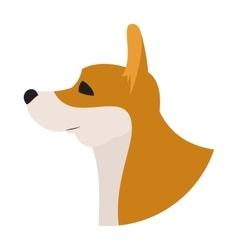 Dog head corgi pembroke welsh vector