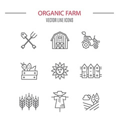 Eco Farming Icons vector image