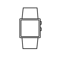 electron watch icon vector image
