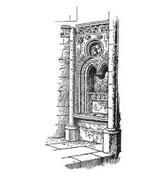 Fenestella in church norrey vintage vector