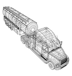 Gasoline tanker tipper lorry on vector
