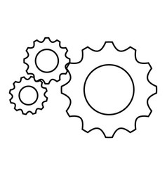 gear wheels icon vector image