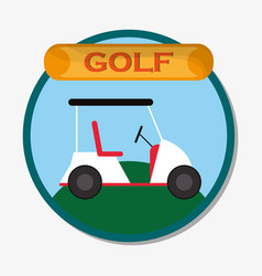 Golf car field sport emblem vector