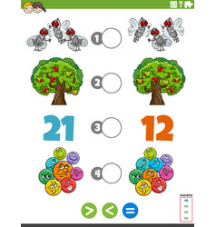 Greater less or equal task with for children vector