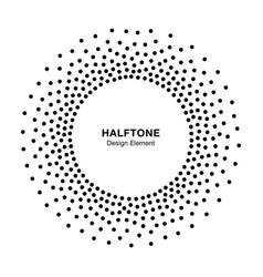 halftone circular dotted frame circle vector image