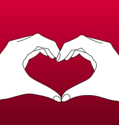 Hands in Form of Heart vector image