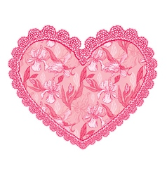 Heart lace pattern 2 380 vector