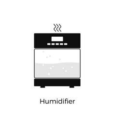 Humidifier simple icon house appliance isolated vector