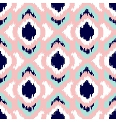 Ikat geometric seamless pattern Pink and blue vector