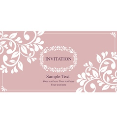 invitation card vintage style vector image
