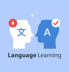 Language learning translate concept vector