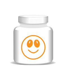 Medicine bottle with vitamins health concept vector