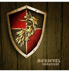 Medieval background vector