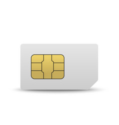 mobile sim card vector image
