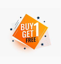 Modern buy one get one sale banner in creative vector