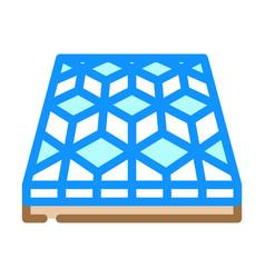 Mosaic floor color icon vector
