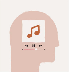 Music or podcast listening or in head vector