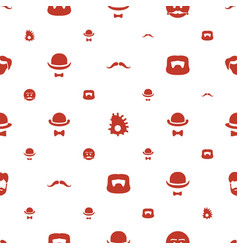 Mustache icons pattern seamless white background vector