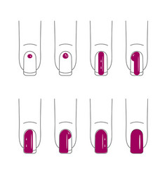 Nail care manicure vector