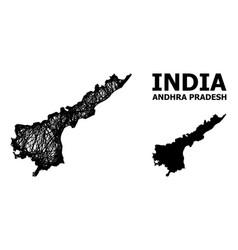 Network map andhra pradesh state vector
