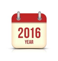 New Year 2016 Calendar Icon vector