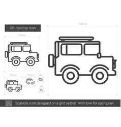 off-road car line icon vector image