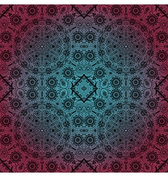 ornamental lace pattern circle background with vector image
