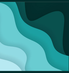 paper art cartoon abstract waves for background vector image