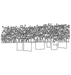 people cheering at stadium sketch vector image