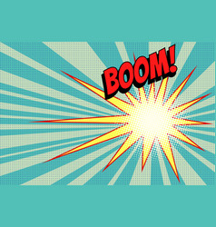 pop art boom background vector image
