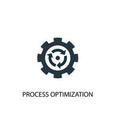 Process optimization icon simple element vector