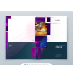 purple brochure cover template layout corporate vector image