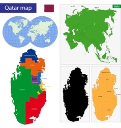 Qatar map vector image