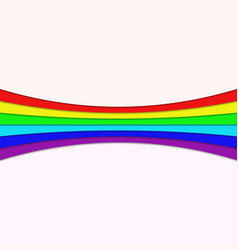 Rainbow curved stripe design vector