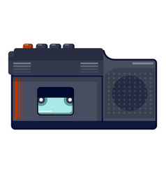 Retro dictaphone icon cartoon style vector