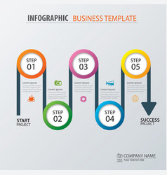 Road business timeline infographic template vector